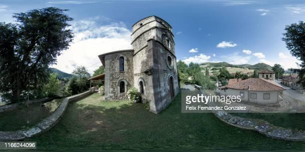 cabuerniga valley in cantabria - 全天周パノラマ ストックフォトと画像