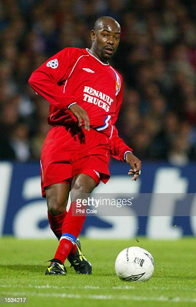 Cacapa of Lyon on the ball during the UEFA Champions League First Phase Group D match between Lyon and Inter Milan at the Stade de Gerland in Lyon...