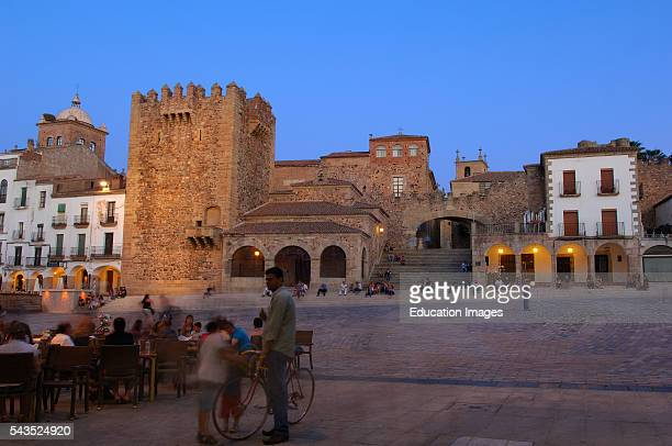 Caceres Main Square Old Town Plaza Mayor UNESCO world Heritage site Extremadura Spain