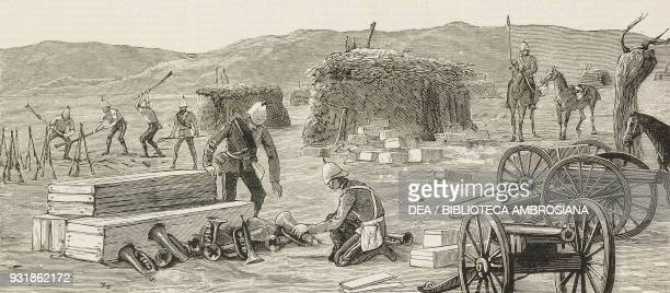 Cache of arms and ammunition taken by the rebels from Baker Pasha's force El Dubba March 1 the rebellion in Sudan Mahdist War illustration from the...