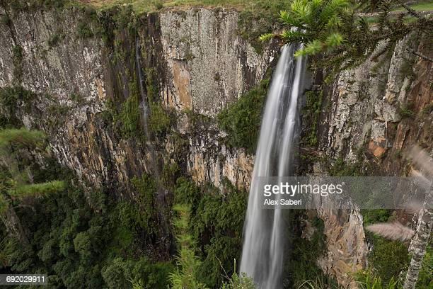 cachoeira do avencal waterfall in urubici, santa catarina state, brazil. - alex saberi foto e immagini stock