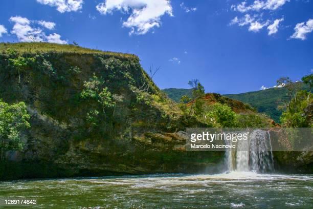 cachoeira do caldeirão in baependi , minas gerais , brazil - marcelo nacinovic stock pictures, royalty-free photos & images
