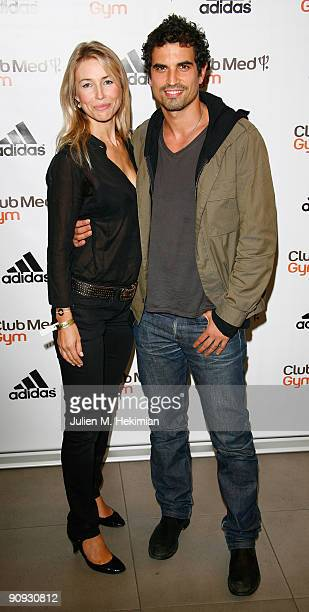 Cachou and Stephane Metzger attend the 'Club Med Gym' birthay celebration at Adidas Performance Store ChampsElysees on September 17 2009 in Paris...