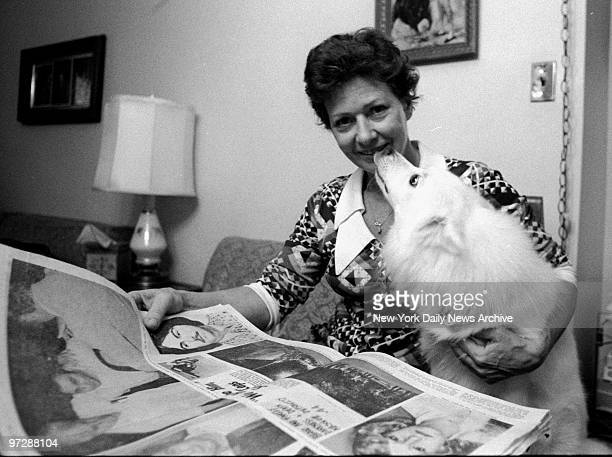 Cacilia Davis with her dog Snowball discussing encounter with killer David Berkowitz