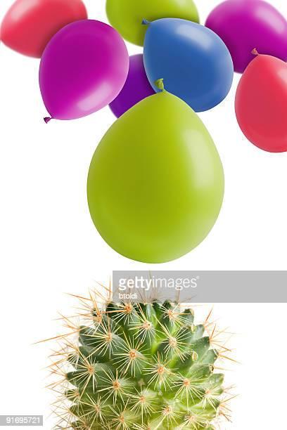 Kaktus und Ballons