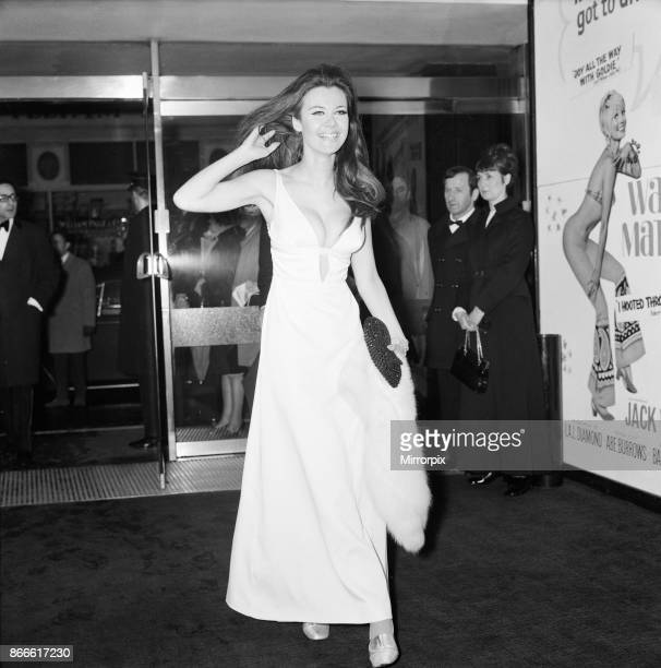 Cactus Flower 1970 film premiere at the Columbia Theatre Shaftesbury Avenue London Wednesday 11th March 1970 picture shows Imogen Hassell British...