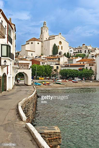 cadaques is small fishing village - cadaques stock pictures, royalty-free photos & images