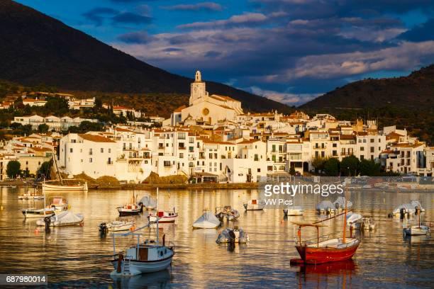 Cadaques village at dawn Cap de Creus Girona Catalonia Spain Europe