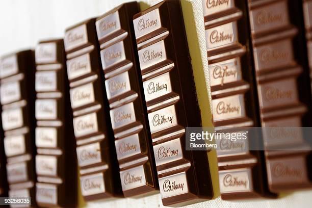 Cadbury's Dairy Milk Chocolate bars move down the production line at the Cadbury Plc factory in Birmingham UK on Friday Nov 20 2009 Cadbury Plc...
