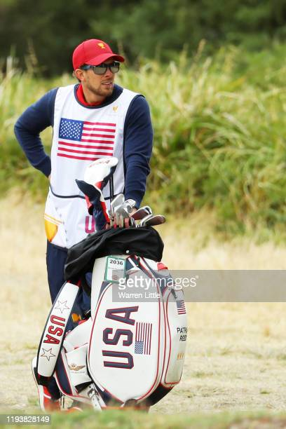 Caddie of Patrick Reed of the United States team, Kessler Karain, looks on during Saturday four-ball matches on day three of the 2019 Presidents Cup...