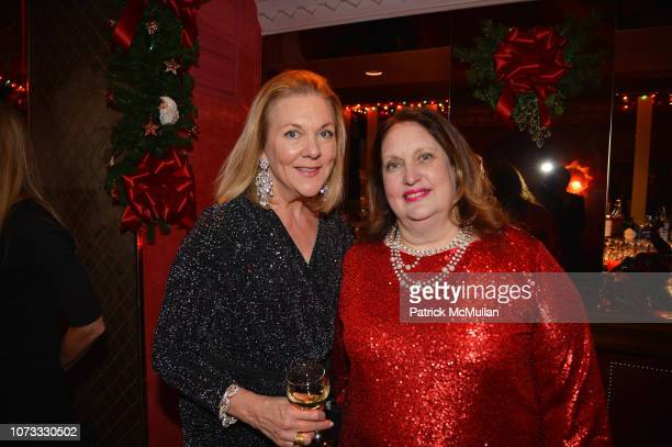 Cade Tompkins and Alison Mazzola attend George Farias Anne Jay McInerney Host A Holiday Party at The Doubles Club on December 13 2018 in New York City
