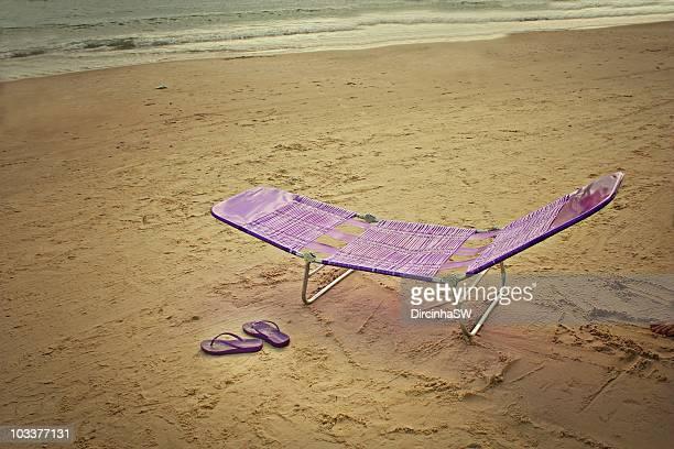 cadeira de praia - cadeira stock photos and pictures