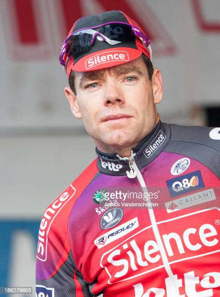 Cadel Evans, an Australian professional racing cyclist, photographed after the 2008 race Internationaal Criterium in Bavikhove. <a...