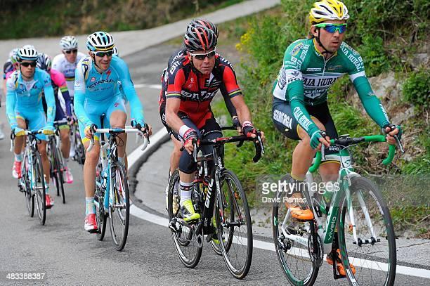 Cadel Evans of Australia and BMC Racing Team heads up the Alto de Gorosmendi during Stage Two of Vuelta al Pais Vasco between Ordizia and Urdax on...
