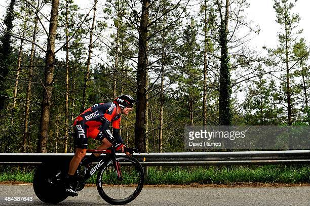 Cadel Evans of Australia and BMC Racing Team in action during Stage Six of Vuelta al Pais Vasco on April 12 2014 in Markina Spain