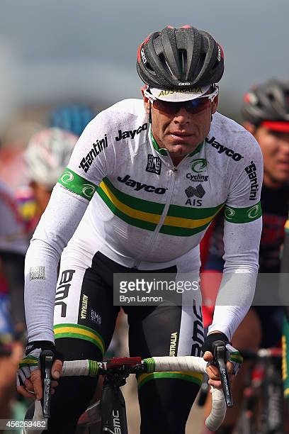 Cadel Evans of Australia in action in the Elite Men's Road Race on day seven of the UCI Road World Championships on September 28 2014 in Ponferrada...
