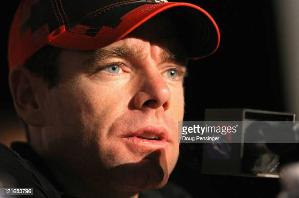 Cadel Evans of Australia riding for BMC Racing addresses the media during a press conference on the eve of the start of the 2011 USA Pro Cycling...
