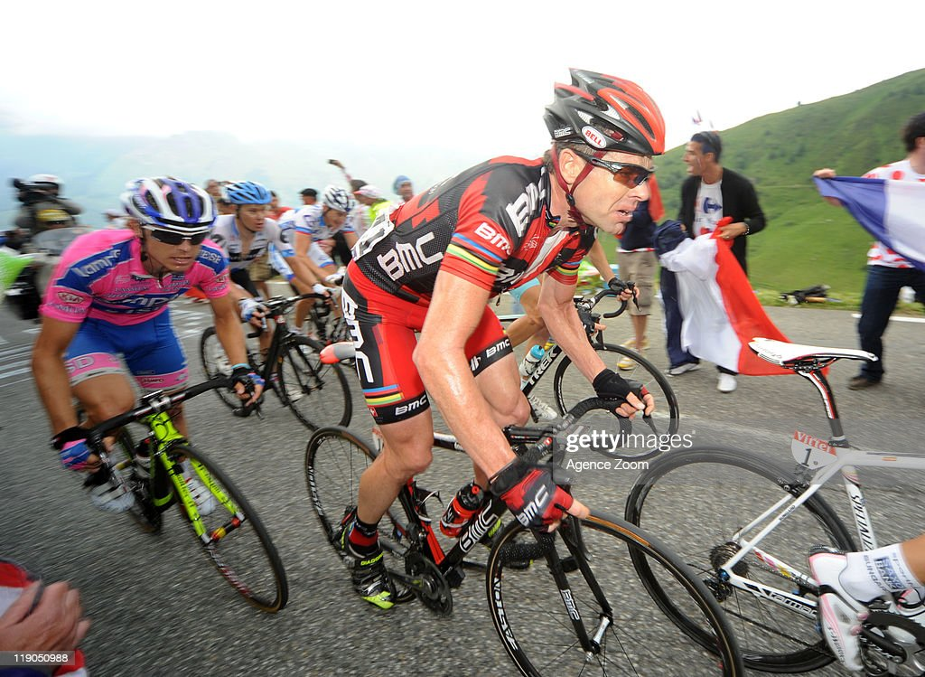 Cadel Evans of BMC Racing Team cycles during Stage 12 of the Tour de France on Thursday 14 July, Cugnaux to Luz-Ardiden, France.