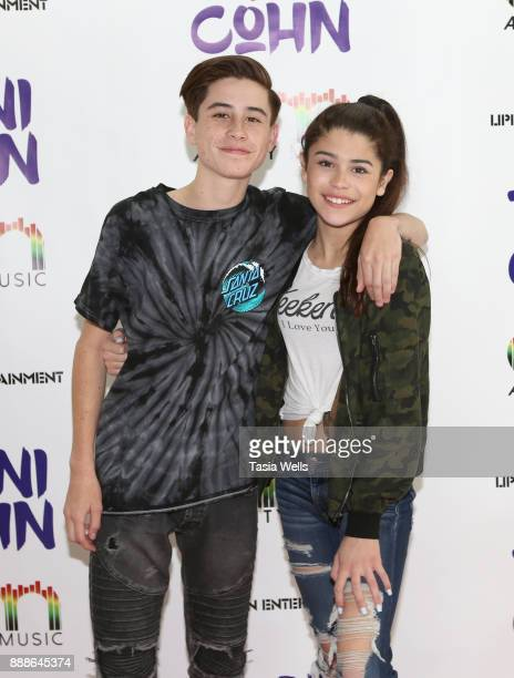 Caden Conrique and Dylan Conrique at Dani Cohn's Single Release Party for #FixYourHeart on December 8 2017 in Burbank California