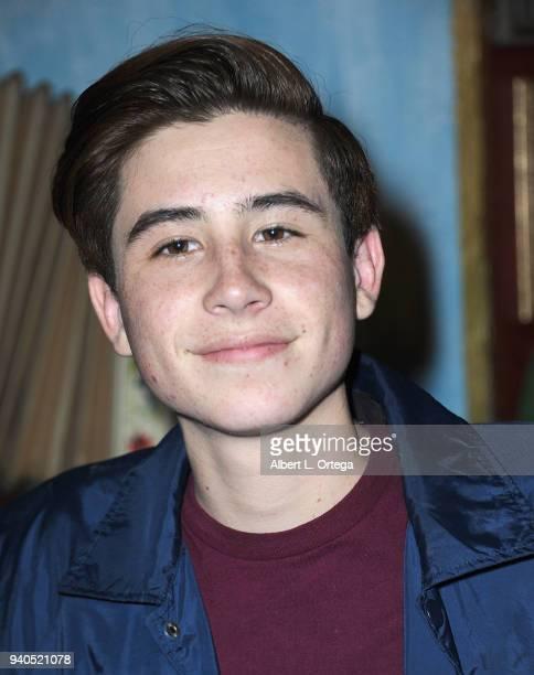 Caden Conrique Celebrates Connor Shane's Birthdayheld at Buca Di Beppo at Universal CityWalk on March 31 2018 in Universal City California