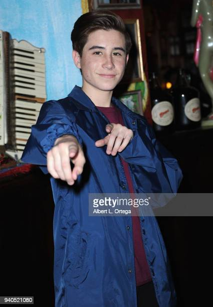 Caden Conrique Celebrates Connor Shane's Birthdayheld at Buca Di Beppo at Universal CityWalk on March 31 2018 in Universal City California