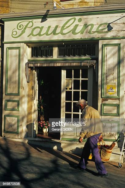 Cadenet village and a shop Pauline in the south of the regional natural park of Luberon Provence France