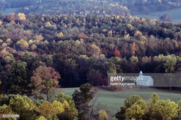 cades cove in autumn - cades cove stock pictures, royalty-free photos & images