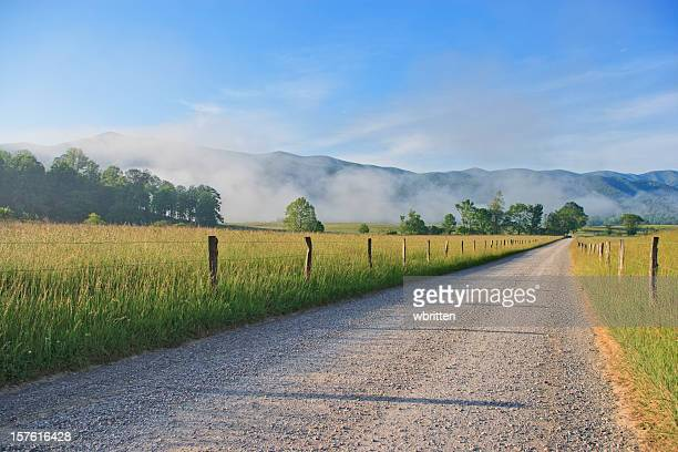Cades Cove morning in the Smoky Mountains