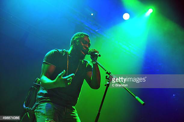 Cadet performs on stage at the O2 Shepherd's Bush Empire on November 26 2015 in London England