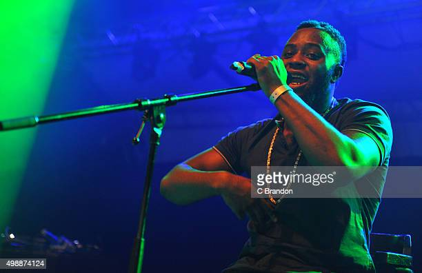 Cadet performs on stage at the O2 Shepherd's Bush Empire on November 26, 2015 in London, England.