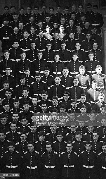 Cadets at the funera; of slain General Karol Urzua at the army's military school.