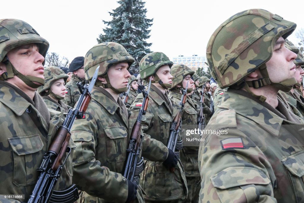 Ceremonial military in Gdynia : News Photo