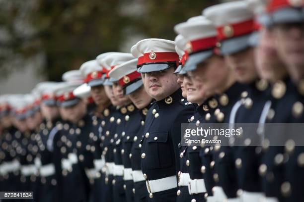 Cadets look on before participating in the Lord Mayor's Show parade on November 11 2017 in London England The Lord Mayor's Show now in its 802nd year...