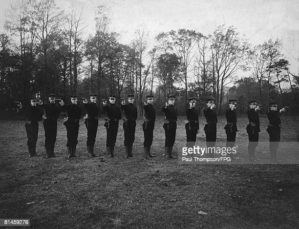 Cadets of the United States Revenue Cutter Service attend pistol drill 1904 The service was established in 1790 to enforce maritime law and was...