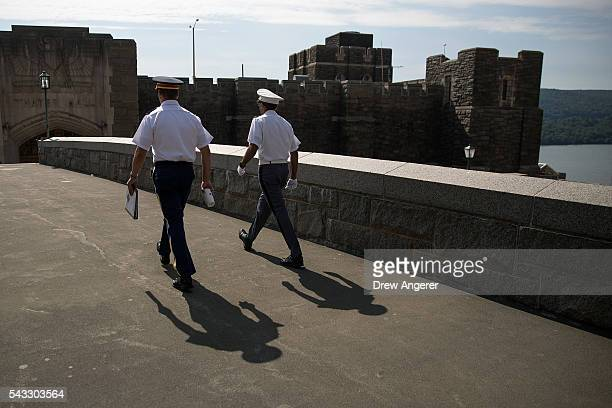 Cadets walk on campus during Reception Day at the United States Military Academy at West Point, June 27, 2016 in West Point, New York. Reception Day...