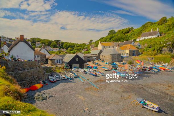 cadgwith, cornwall, united kingdom - village stock pictures, royalty-free photos & images