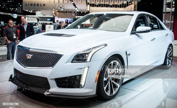Cadilac CTSV is on display during North American International Auto Show at Cobo Center in Detroit MI United States on January 15 2018