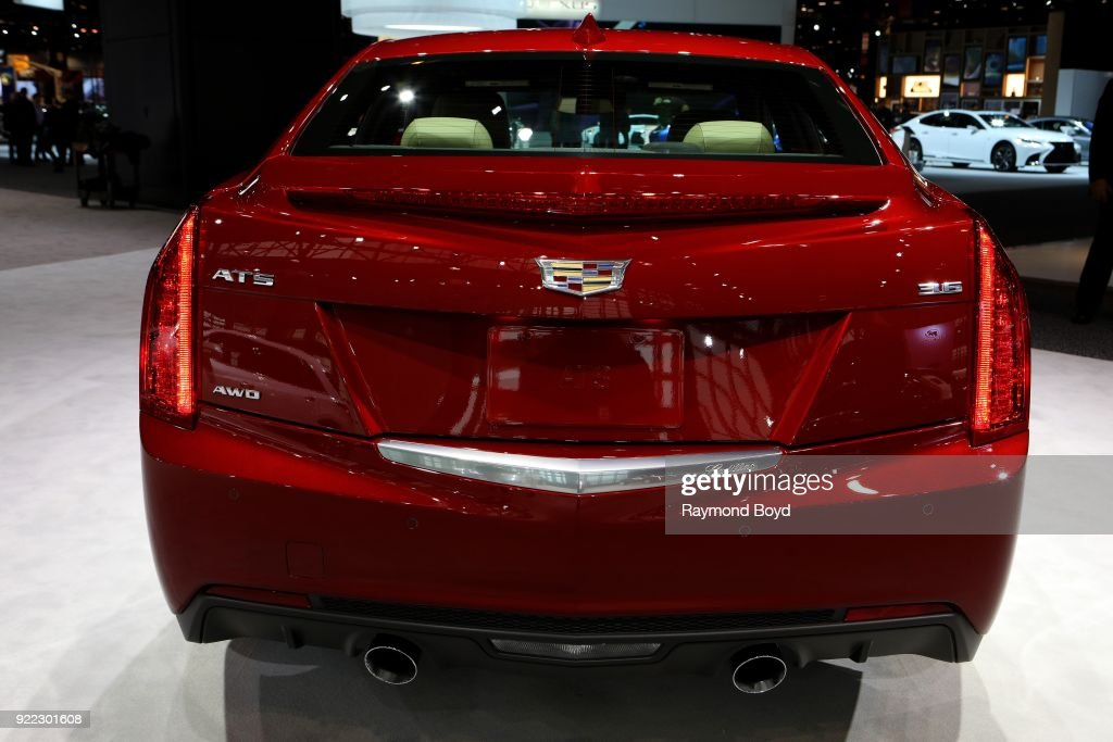 Cadillac ATS is on display at the 110th Annual Chicago Auto Show at McCormick Place in Chicago, Illinois on February 9, 2018.