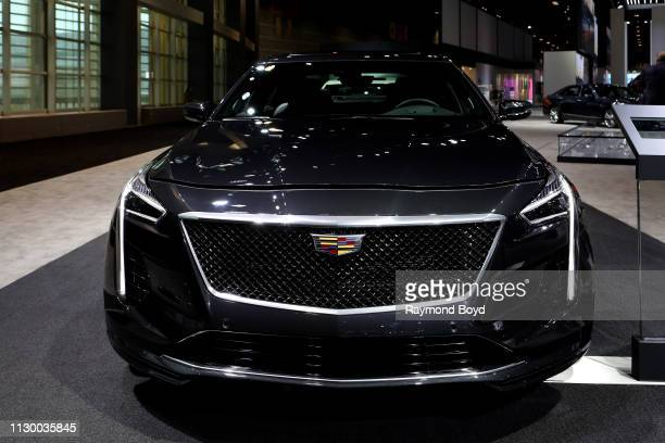 Cadillac CT6-V is on display at the 111th Annual Chicago Auto Show at McCormick Place in Chicago, Illinois on February 7, 2019.