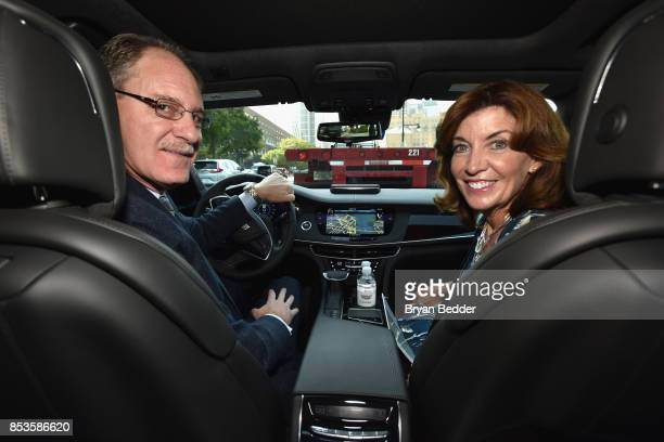 Cadillac President Johan de Nysschen and Lieutenant Governor Kathy Hochul of New York kick off firstever handsfree drive on freeways from coast to...