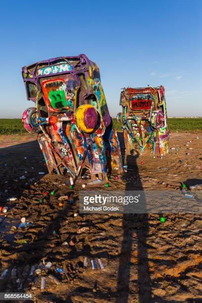 Cadillac Ranch in the early morning sun