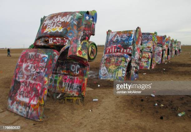 CONTENT] Cadillac Ranch is a public art installation and sculpture just west of Amarillo Texas along Route 66 It was created in 1974 by Chip Lord...