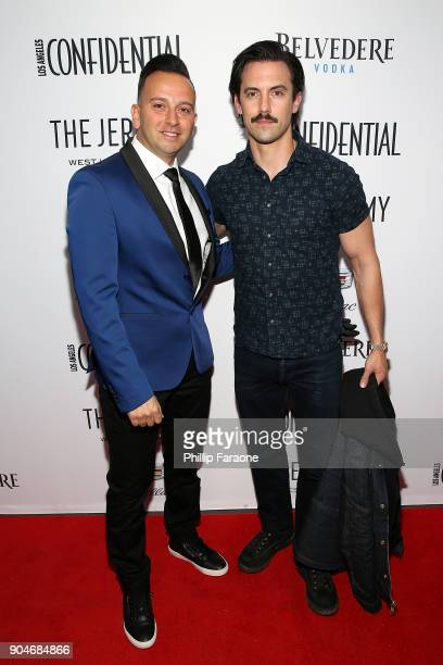 Cadillac Regional Director US Western Region Mahmoud Samara and Milo Ventimiglia attend the Los Angeles Confidential Alison Brie and Cadillac...
