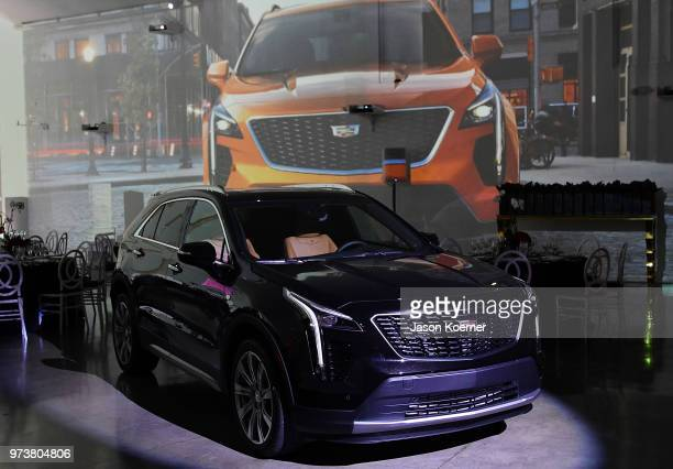 Cadillac XT4 on display at Cadillac Welcome Luncheon At ABFF Black Hollywood Now at The Temple House on June 13 2018 in Miami Beach Florida