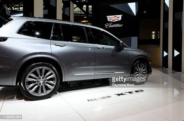 Cadillac XT6 is on display at the 111th Annual Chicago Auto Show at McCormick Place in Chicago, Illinois on February 7, 2019.