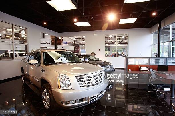 Cadillacs are offered for sale at the Grossinger GM dealership May 13 2009 in Lincolnwood Illinois In an attempt to shore up the industry General...