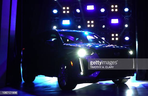 Cadillac's new XT6 crossover is revealed at the Garden Theater during the 2019 Detroit Auto Show in Detroit, Michigan, on January 13 one day before...
