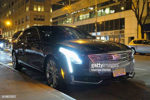 Cadillacs on display at Republic Records Celebrates the GRAMMY Awards in Partnership with Cadillac Ciroc and Barclays Center at Cadillac House on...