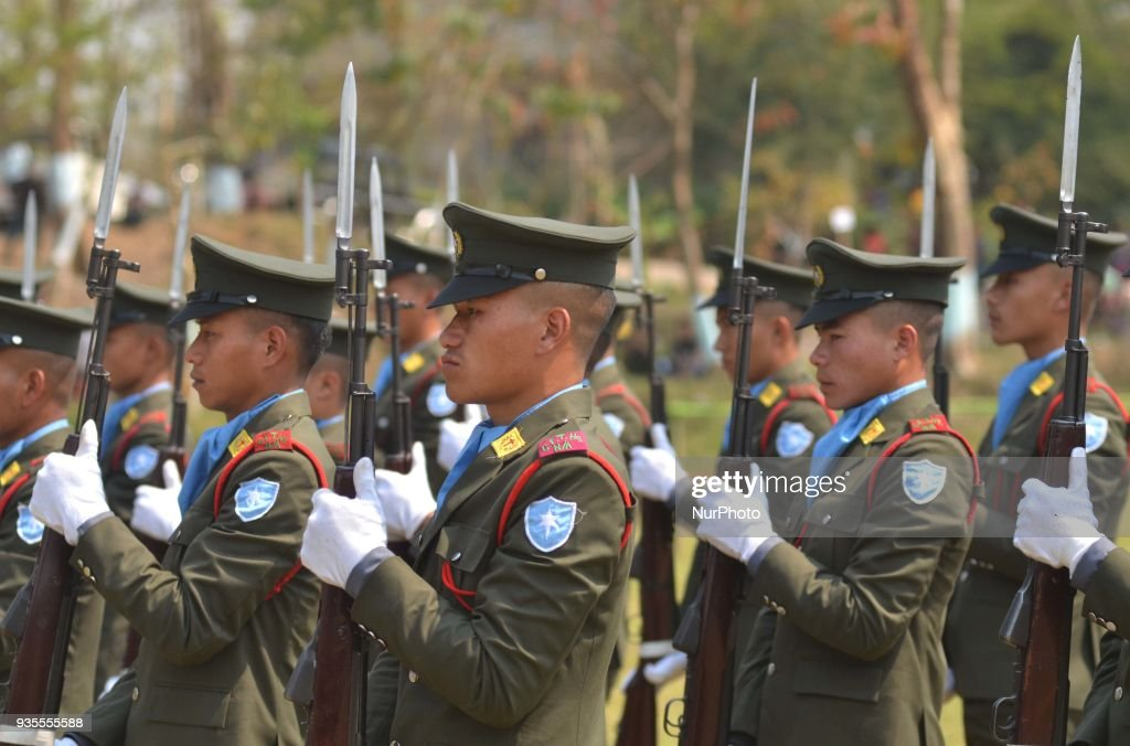 Cadres of National Socialist Council of Nagaland Isak Muivah