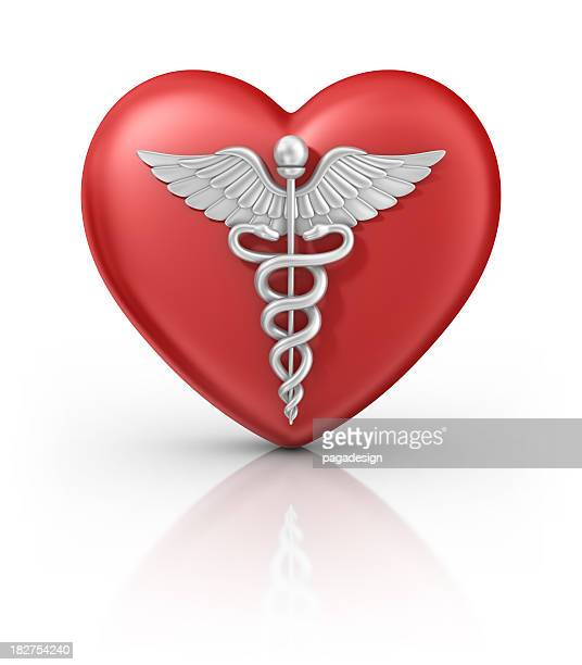 caduceus on heart - medical symbol stock pictures, royalty-free photos & images
